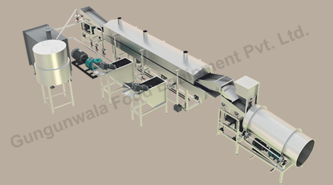 snack pellets frying line suppliers in india, france, china, uk